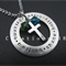 Baptism Personalised Cross & Crystal Necklace, HandStamped Jewlely , GodParents