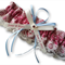 Wedding Garter ,  personalised Raspberry satin and Ivory Lace with heart