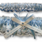 Wedding Garter Set  personalised soft blue satin and Ivory Lace with heart