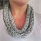 Finger Knitted Infinity Scarf