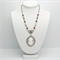 Cameo on Beaded Silver Chain with Matching Earrings