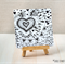 Loves Black and White Illustration 3 - Half Fold Greeting Card (14916)