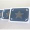 Mini Card Star - Set of 3 Blue & Grey Paper for Christmas or as Teacher's Gift