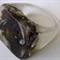 Black Ranunculus bud clear resin flower RING SZ S