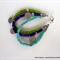 Three Strand Magnesite Aspirational Bracelet – Marine