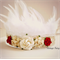 Feather and lace flower crown by Vintage Fairy