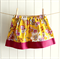 summer skirt | tropical yellow & hot pink floral | size 3 | last one