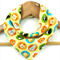 BABY ANIMALS Navy Super-Absorbent 3-Layered bandana bib with Stay-Dry backing