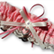 Wedding Garter ,  personalised coral pink satin and Ivory Lace with heart