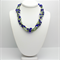 Green and Blue Necklace with Matching Earrings