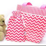 "PVC Child's Tote Bag ""Pink Chevron"""