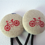 Hair Ties With Red Bicycles