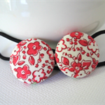 Hair Ties With Red Flowers