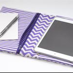 "PVC Notepad/Activity FOLDER ""Purple Chevron"""