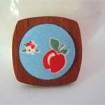 Wooden Brooch