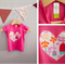 00 GIRLS HEART APPLIQUE TEE- FREE POSTAGE!