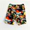 Sizes 5 to 10 Hula Girl in Black Vintage Hawaiian Boys Shorts