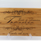 Personalized cheese and wine cutting board, anniversary and wedding gift
