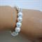Bold Pearl Bracelet with Rhinestones, Bridal Bracelet, Bridesmaids Gift