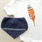 baby gift set | feather onesie | bandana bib | crochet | boy