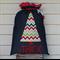 Denim Santa Sack (3 letters)