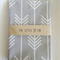 Cot Crib Fitted Sheet in Light Grey Arrows Made to Order