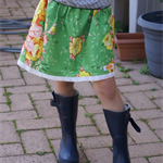 SIZE 5 | Green floral cotton skirt