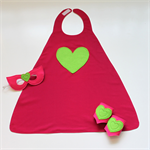Pink and Green Heart Super Hero Set