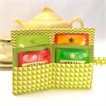 "TEA PURSE ""Lime Triangles"""