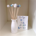 "Polymer Clay ""Popsticles"" blue/white/silver
