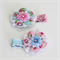 Floral Shabby lace hairclip set