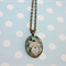 BRONZE OVAL FOX NECKLACE