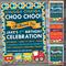 Train Custom Birthday Invitation Printable #B0010