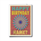 Orange pinwheel Happy Birthday card, personalized NAME female male girl boy