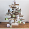 Driftwood Christmas Tree with present decorations