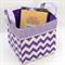 "Fabric Basket - 26cm ""Purple Chevron"""