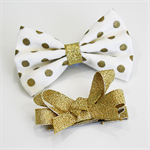Gold Dot Christmas bow