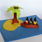 Felt play set - pirate island