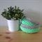 Mint & Silver Crochet Rope Storage Bowl Set