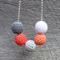 Crochet wooden ball necklace