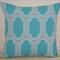 Teal & Grey Geometric Designer Cushion Cover