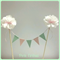 Cake Bunting with flowers