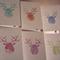 6 Christmas Cards - reindeers