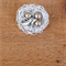Hand Wrapped Swarovski Bronze Pearl Nest Brooch