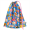 Gorgeous Library Bag with Trees Birds and Flowers. Drawstring Bag for Kids.
