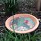 Flowering gum mosaic water dish or bird bath. A lovely piece of garden art