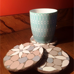 Porcelain mosaic coasters, protect your coffee table with little pieces of art