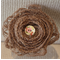 Handmade brown hessian flower with wooden floral button