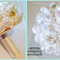 White satin rolled rose bouquet