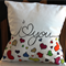 """Hand Painted I Love You 14"""" Cushion Cover"""